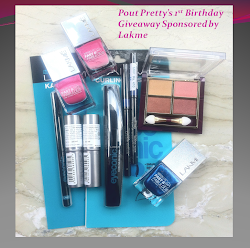 Enter Pout Pretty's 1st Birthday Giveaway Sponsored by Lakme - On till 15th July