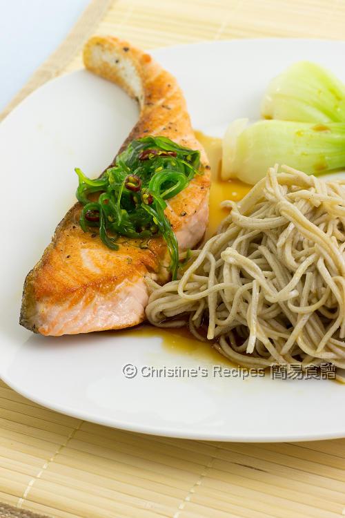 Japanese Salmon Soba Noodles01