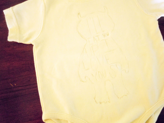 DIY Hand Painted Onesie - Because every LOVES handmade gifts + Where The Wild Things Are! See more at: nauticalowl.blogspot.com