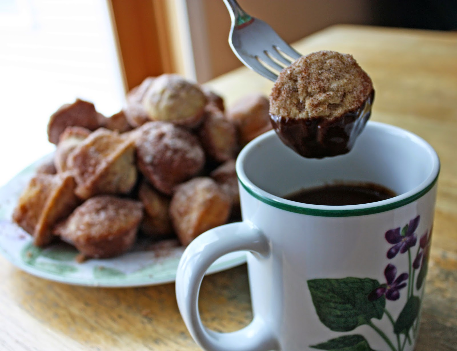 Rich and thick spiced hot chocolate with churro doughnut muffins   How ...
