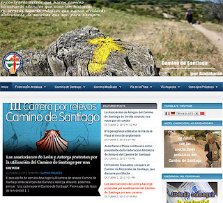 Nueva web de la federación de asociaciones del Camino de Santiago de Andalucía.
