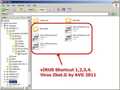 Cara Mengatasi Virus shortcut 1234 Runmit
