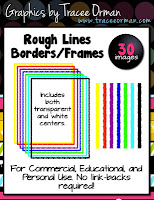 Rough Lines Clip Art Frames