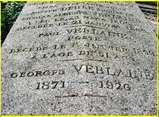 La tombe de la famille Verlaine.