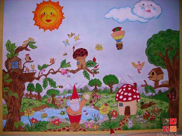 Pintar mural hacer bricolaje es - Pintar mural en pared ...