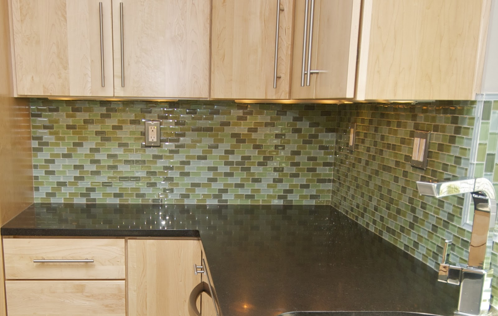 Green Kitchen Tile Backsplash