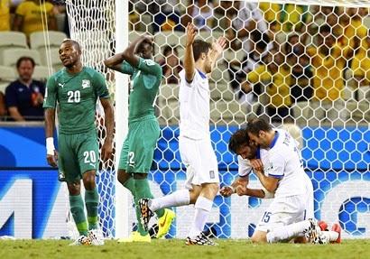 اهداف مباراة اليونان و ساحل العاج 2 - 1|| كأس العالم HD||