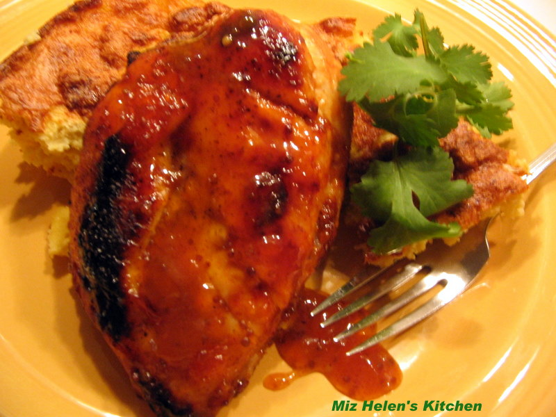 am serving the Apricot Glazed Chicken with Steamed Lemon Broccoli ...