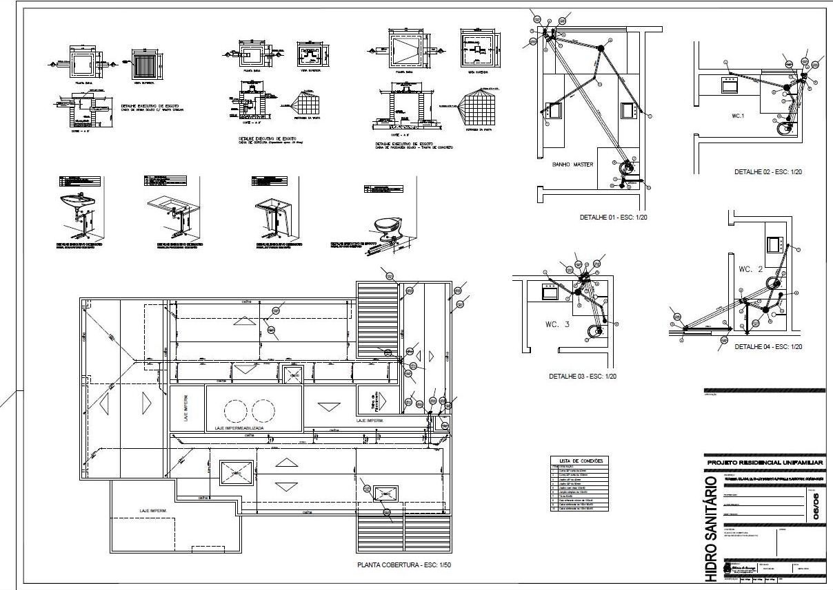 Projetos & Desenhos: Projeto Hidro Sanitário #6A6166 1208 857