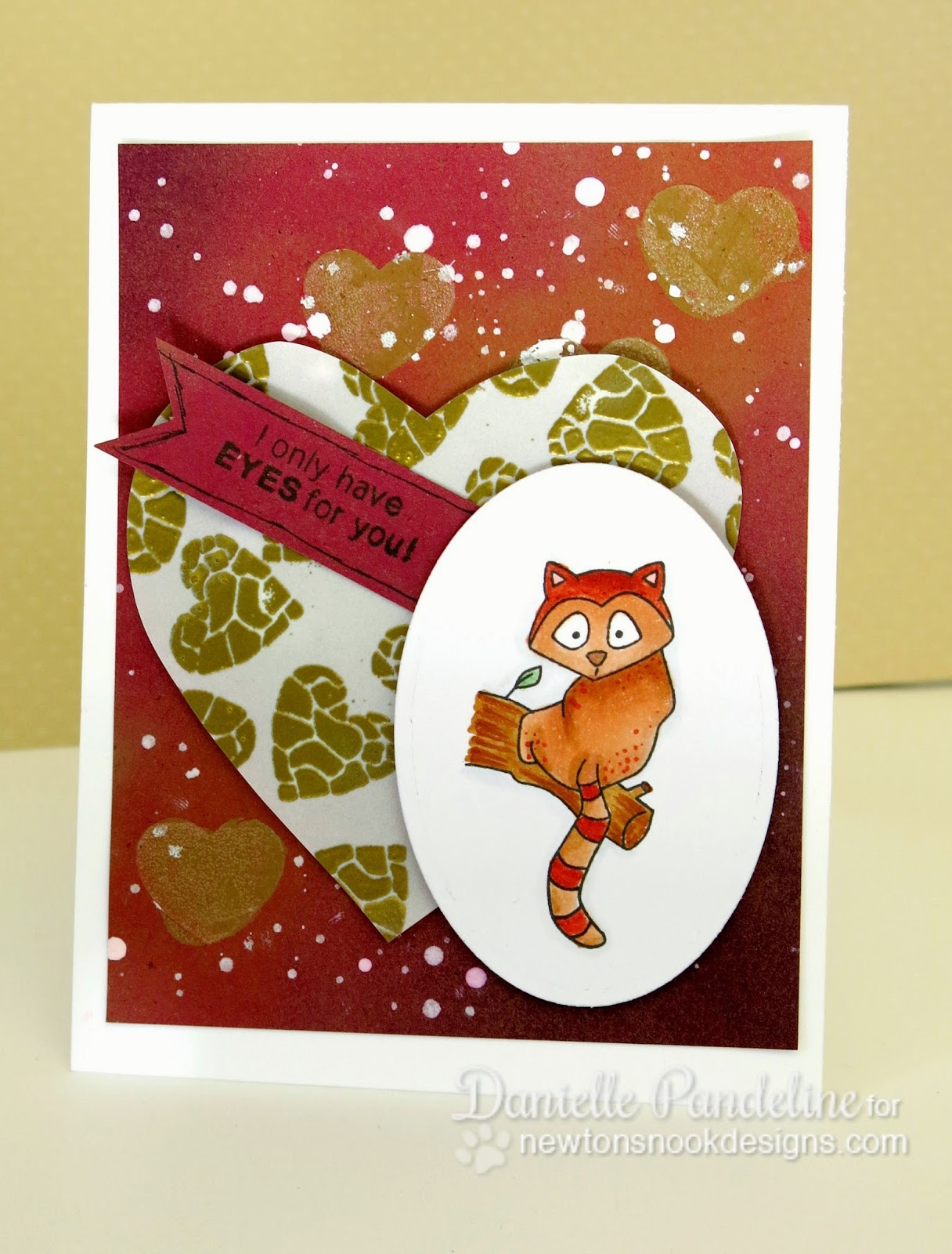 Eyes for you Card by Danielle Pandeline | featuring Wild About Zoo from Newton's Nook Deisgns