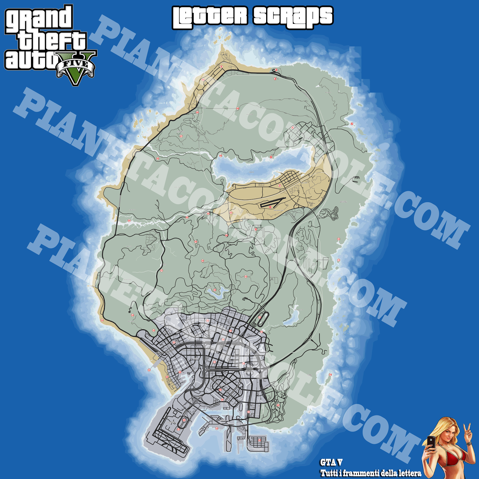Gta v gta 5 lettera grand theft auto v letter scrap locations png