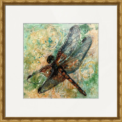Dragonfly Dance by watercolor artist Miriam Schulman ©SchulmanArt collect dragonfly art  https://www.etsy.com/shop/SchulmanArts/search?search_query=dragonfly&order=date_desc&view_type=list&ref=shop_search