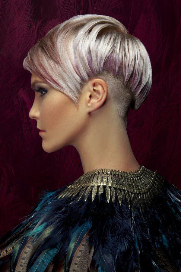 Фото креативной стрижки и окраски волос