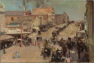 Allegro con brio: Bourke Street - Tom Roberts painting