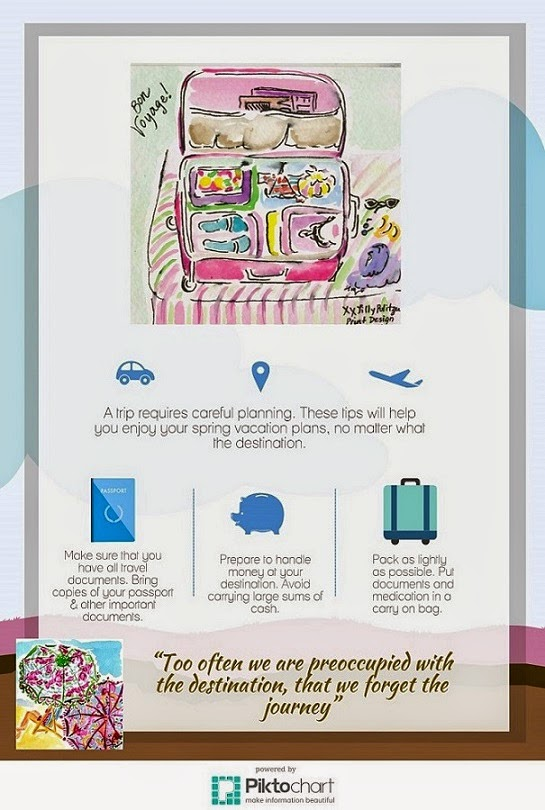 lilly pulitzer infographic travel tips for spring break