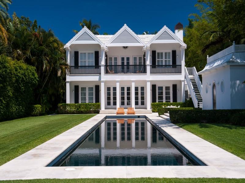 Backyard of a home in Palm Beach, Florida