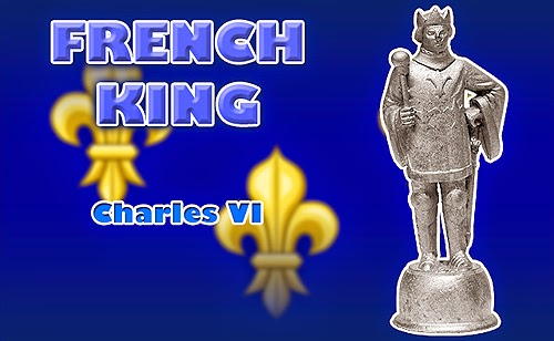 Battle of Agincourt Medieval French King Chess Piece