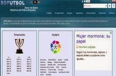 BDFutbol: base de datos históricos y estadísticas de la Liga Española de Fútbol