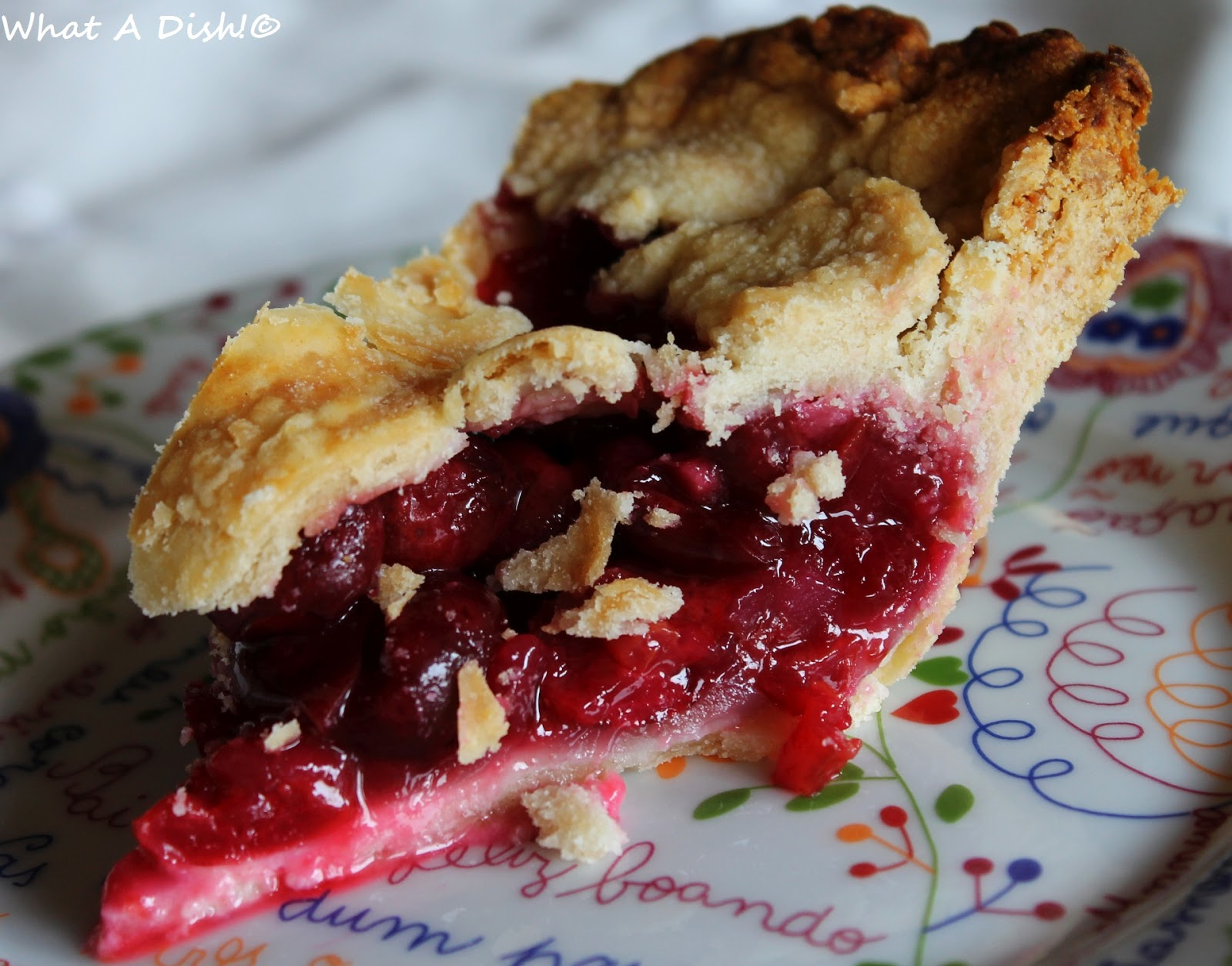 What A Dish!: Sweet Cherry Pie!