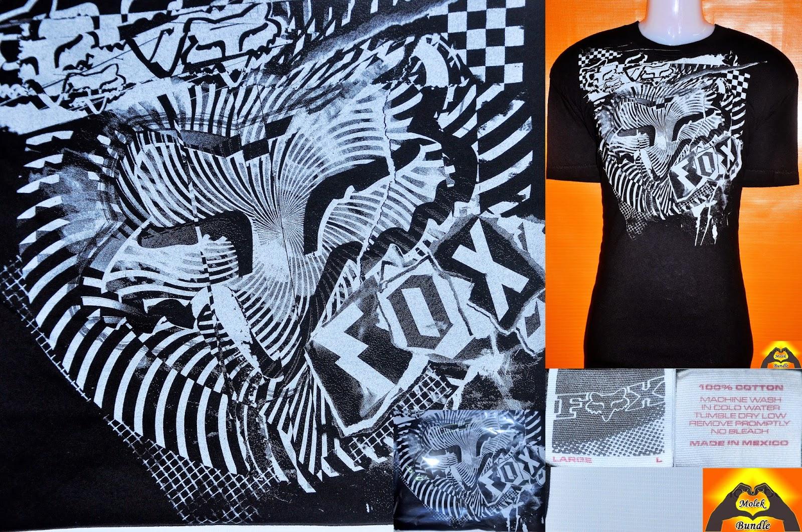 Black t shirt tambah lagi - Baju Fox Racing T Shirt