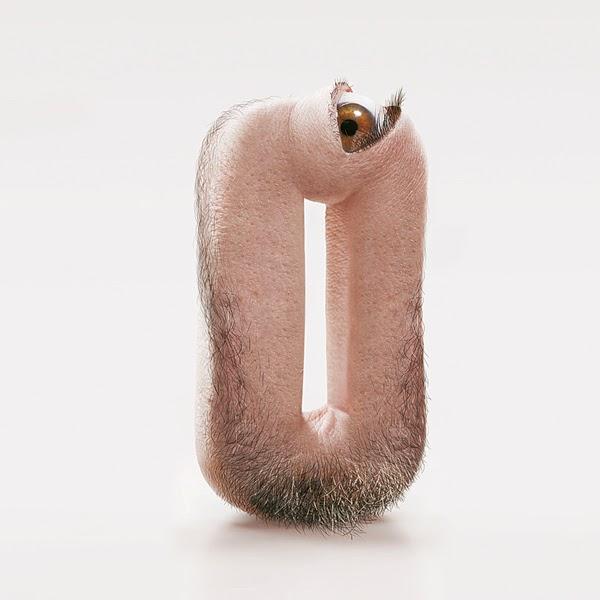 Shocking Hairy Typeface Made of Human Flesh1