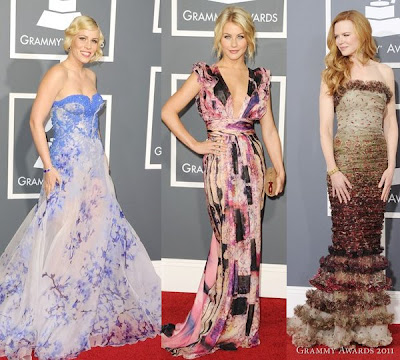 2011 Grammy Awards Red Carpet Fashion