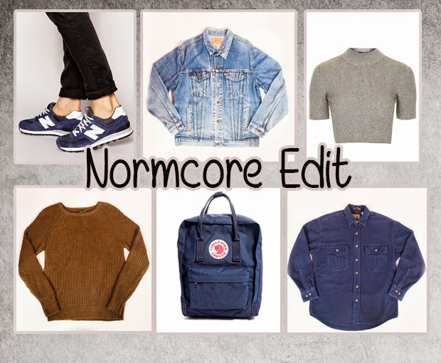 normcore fashion edit 90's vintage asos topshop plain thevintagescene