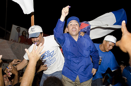 Ex-UDP minister, Marcel Cardona, has something to say, celebrates victory with the PUP.