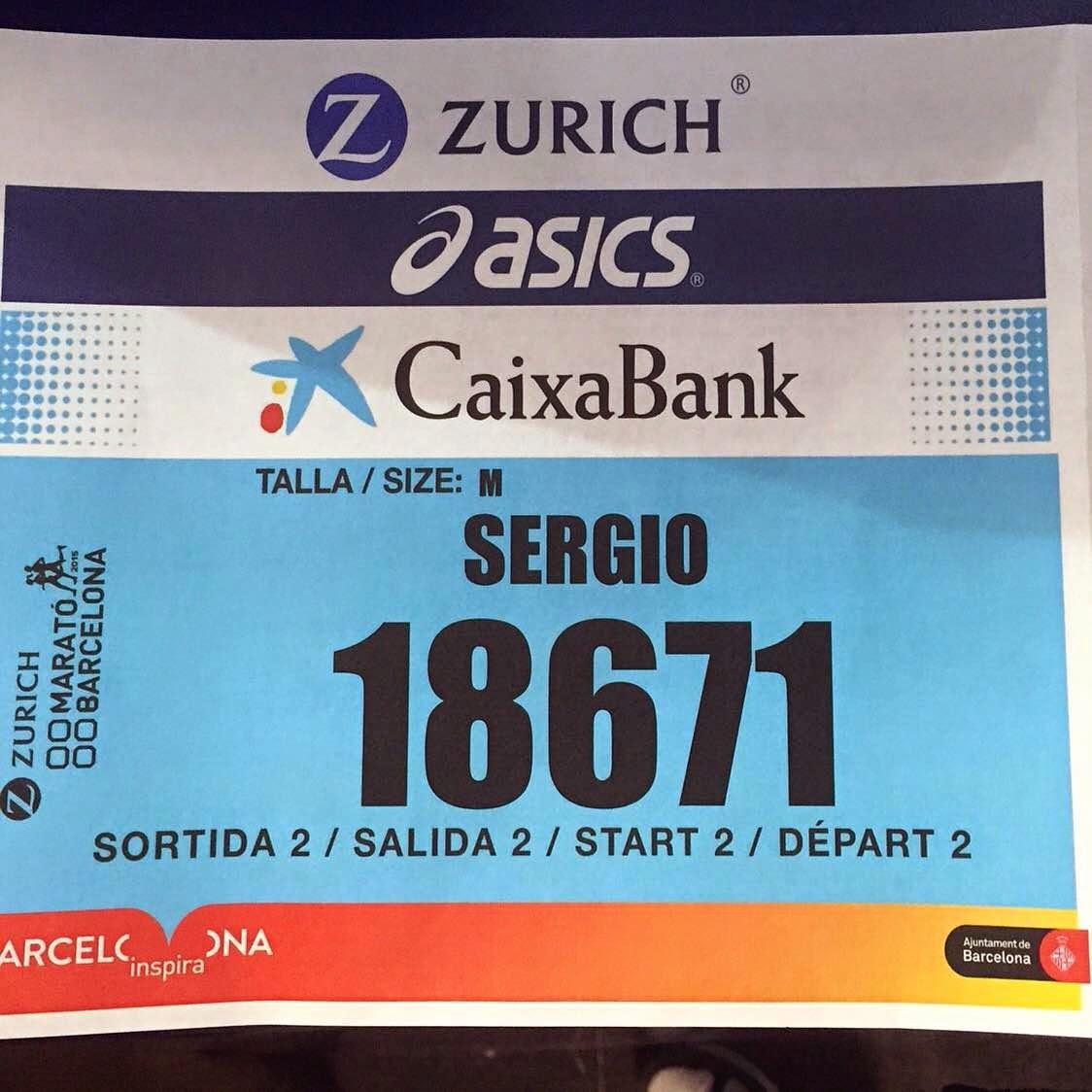 zurich marato de barcelona 2015 dorsal