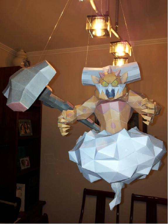 Pokemon Landorus Papercraft Incarnate Forme