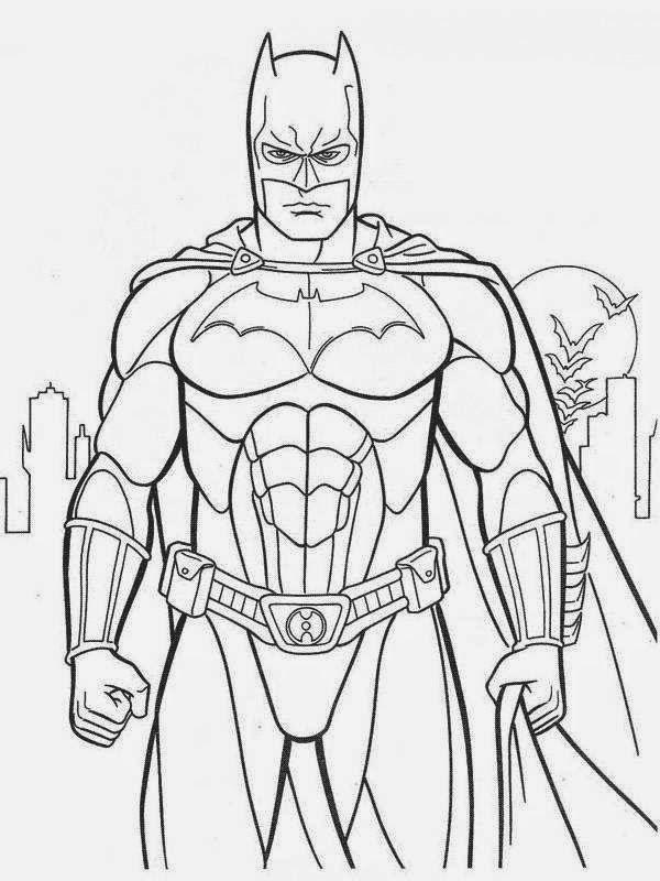 Desenhos de Batman para colorir