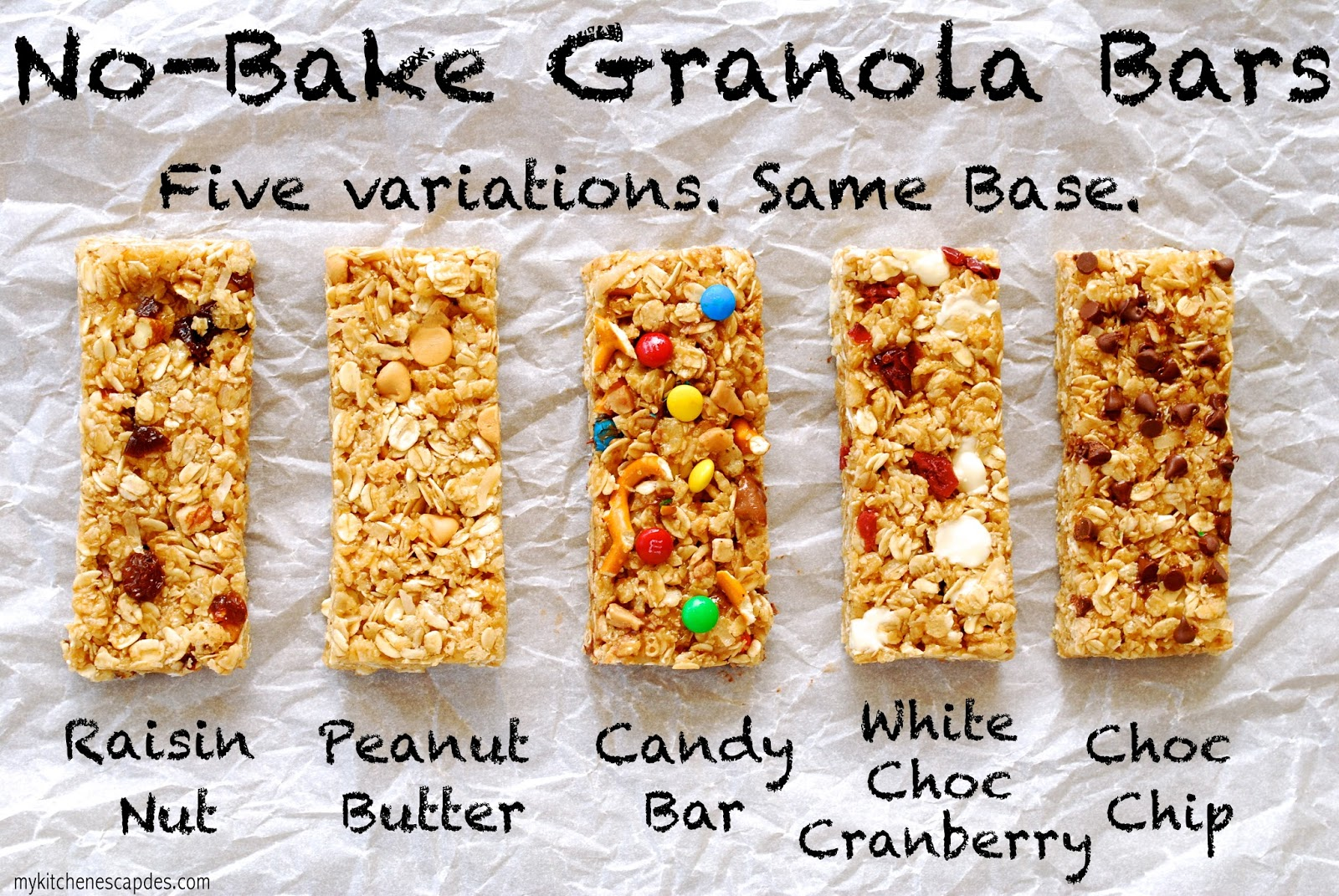 No bake granola bars recipe chewy and easy no bake chewy granola bars ccuart Choice Image
