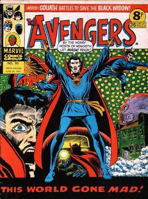 Marvel UK, The Avengers #93,  Dr Strange