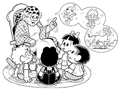 Desenho de Folclore/ Turma da Mônica para colorir