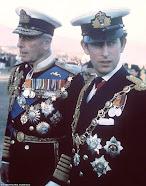 Lord Louis Mountbatten & his great nephew HRH Prince of Wales