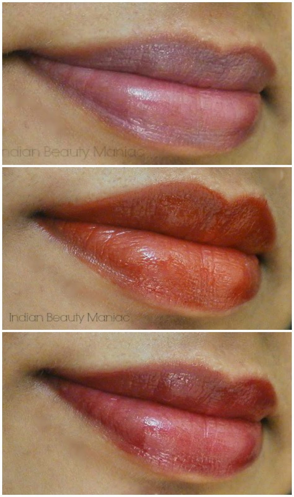 L'Oréal Paris Shine Caresse Light Weight Lip Color in Milady, Eve and Juliette LOTD
