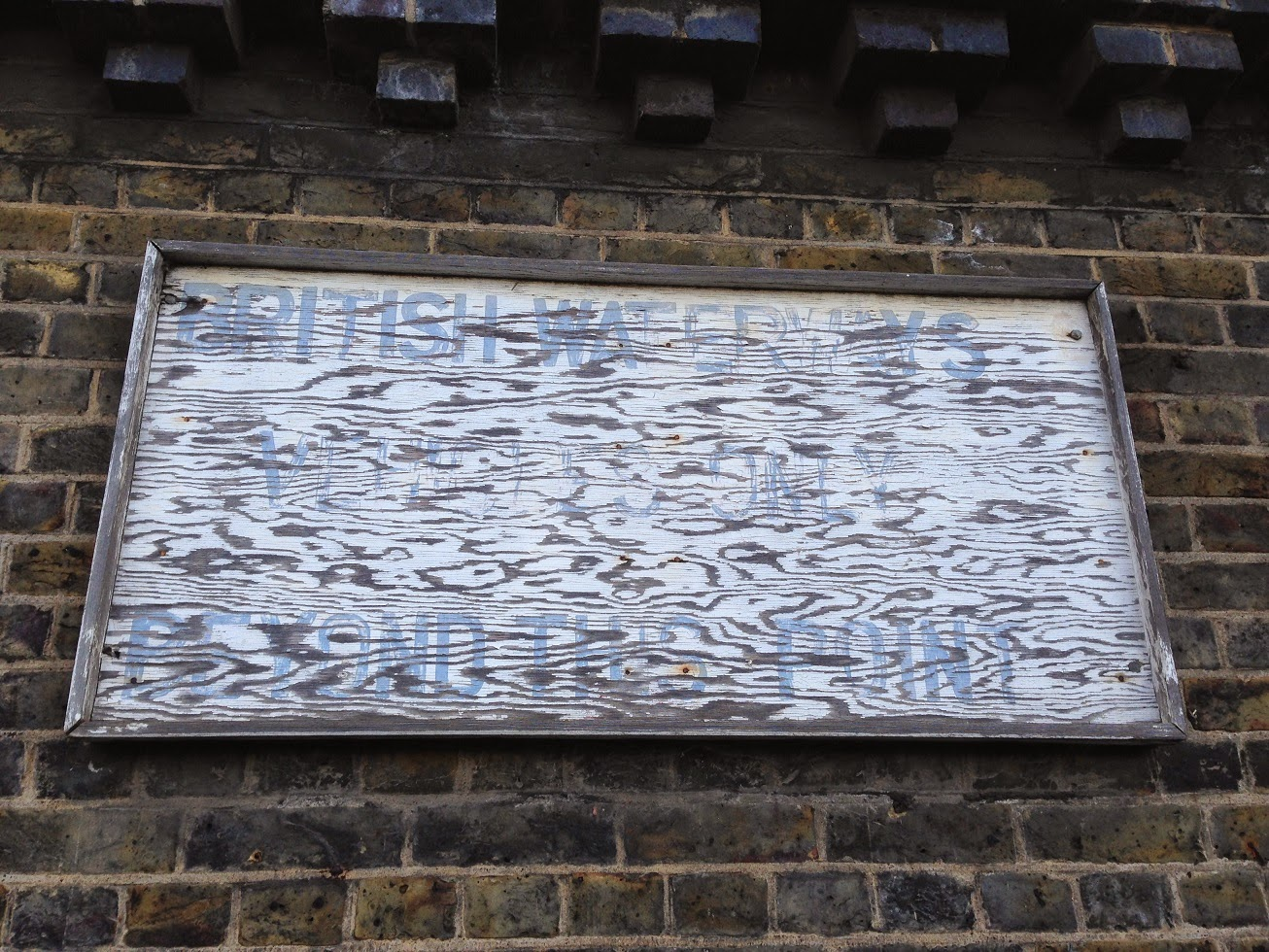 Ghost sign, Limehouse Cut, London