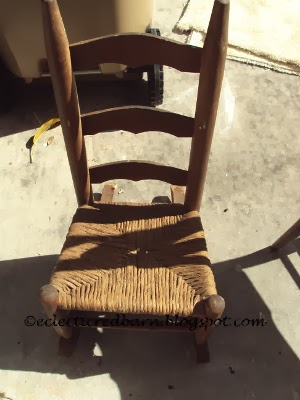 Eclectic Red Barn: Children's Jute Seat Rocker
