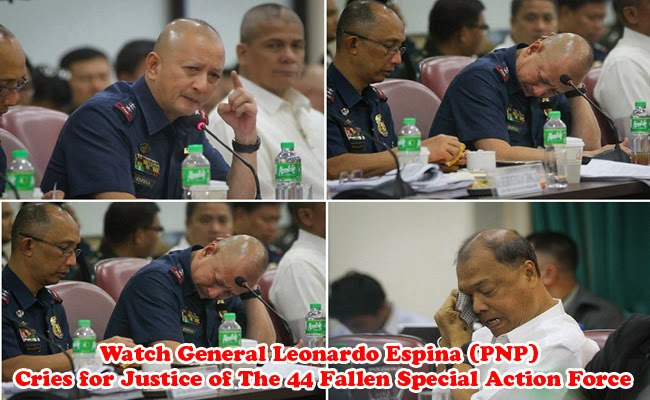 Watch General Leonardo Espina (PNP) Cries for Justice of The 44 Fallen Special Action Force