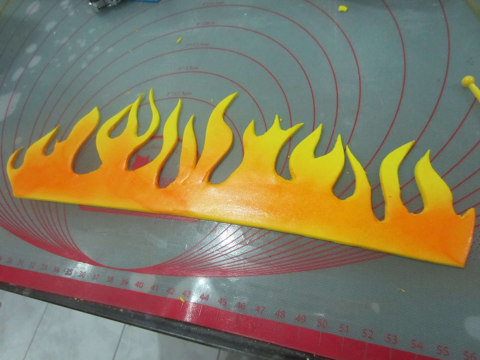 Flames Template | Home May De Cakes The Making Harley Davidson Dude Cake