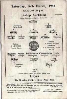 Bishops Auckland vs Hayes 1957 score 2-0