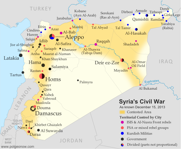 Syria Civil War Map: December 2013 (#12) - Political Geography Now on