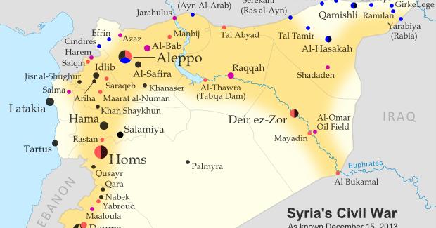 Syria Civil War Map December Political Geography Now - Qamishli map
