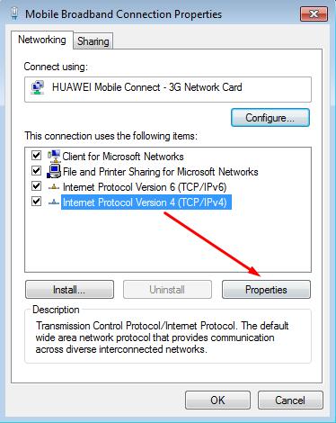 Setelah itu klik Internet Protocol Version 4 (TCP/IPv4) Lalu Klik