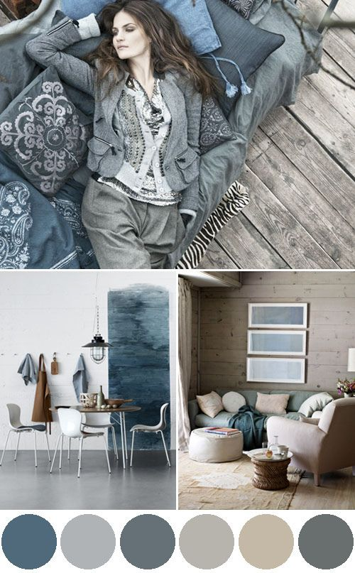 Coastal Style Blue Grey Layer Up For Winter