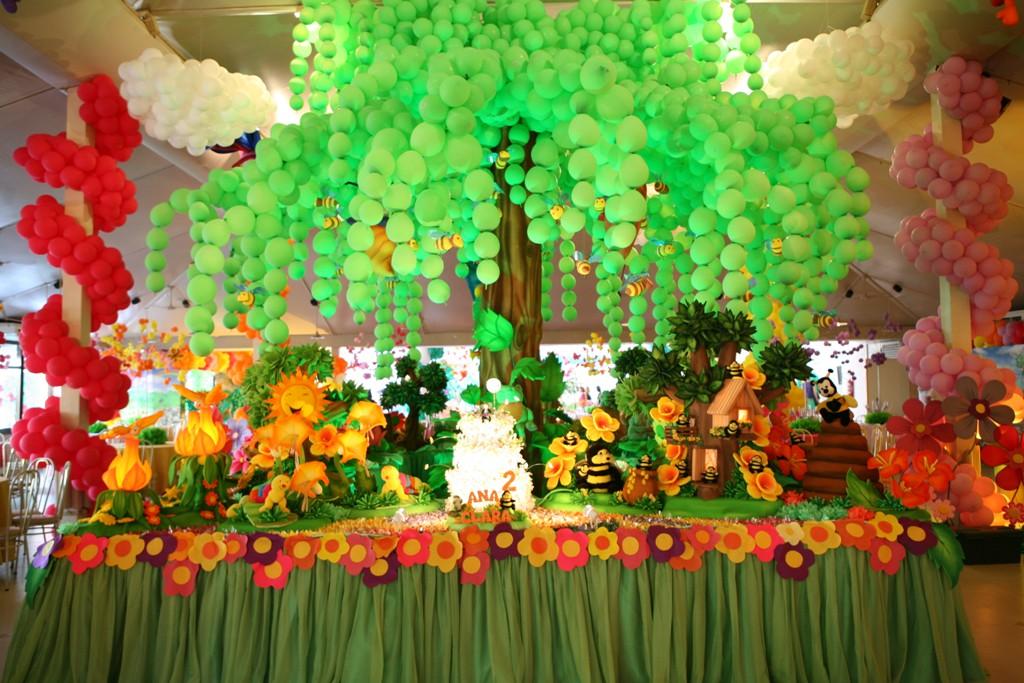 Dicas De Festas ~ Portal Maternité~ Decoracao De Balões Jardim Encantado
