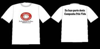 Camiseta da Campanha Pela Vida