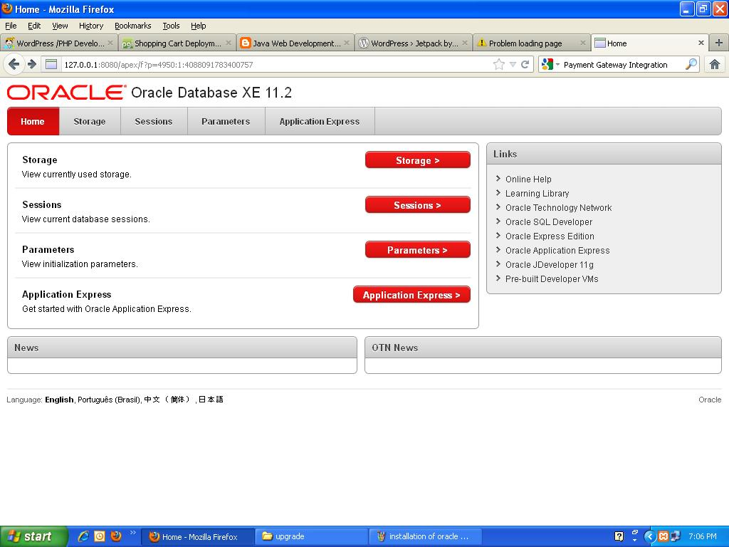 Oracle database system