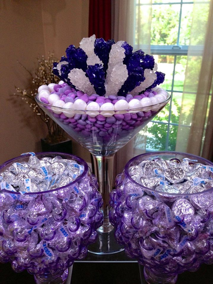 Purple centerpieces for sweet imgkid the