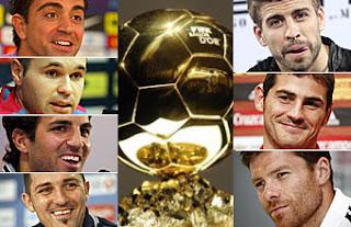 Listos los 23 candidatos del Balón de Oro 2011